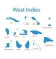 West Indies - maps of countries vector image
