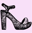 women sandals vector image vector image