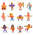 wrestler masked man character and masking vector image
