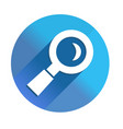 magnifying glass icon - long shadow icon style vector image