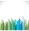 abstract green and blue cityscape stock vector image