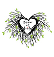 heart tree of life vector image