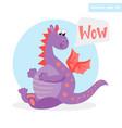 wow dragon vector image
