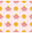 save money piggy bank flat design banking vector image