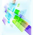 abstract blocks template design - falling down vector image vector image