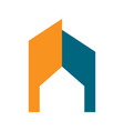 abstract commercial home residential symbol design vector image