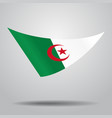 algerian flag background vector image vector image
