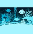 aquarium in paper art style vector image vector image