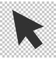 Arrow sign Dark gray icon on vector image vector image