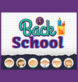back to school cover office and pupils vector image
