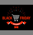 black friday holiday november 29 promo banner vector image vector image