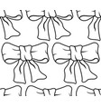 bow knot contour pattern vector image vector image