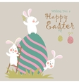 Bunnies and easter eggs vector image vector image