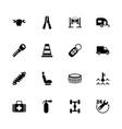 car repair - flat icons vector image