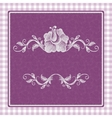 card with a beautiful pattern for invitation vector image vector image