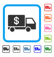 cash delivery framed icon vector image vector image