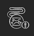 cholesterol chalk white icon on black background vector image