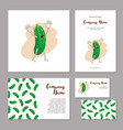 corporate branding cheerful vegetable in cartoon vector image vector image