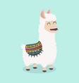 cute funny alpaca fluffy vector image