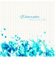 Cyan Blue Abstract Painted Background vector image