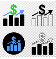 dollar trends eps icon with contour version vector image vector image