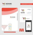 drinks business logo file cover visiting card and vector image