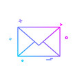 email envelope icon design vector image vector image