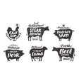 Farm animals icons set Collection of labels with vector image vector image