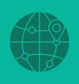 flight destinations glyph color icon vector image