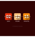 Flip Countdown timer clock counter Flat vector image