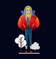 girl in winter outer clothing in the style of flat vector image vector image