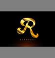 gold golden r alphabet letter logo company icon