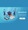 graduation day horizontal banner vector image