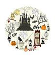 halloween decorations background vector image vector image