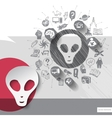 Hand drawn extraterrestrial icons with icons vector image vector image