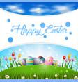 happy easter egg scenery vector image