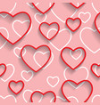 happy valentines day seamless love and happiness vector image