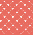 hearts connected with lines on pastel pink vector image