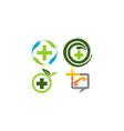 herbal medicine template set vector image