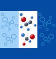 isometric glass molecules model molecule vector image