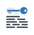 keywording glyph icon vector image vector image