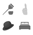 leisure trade business and other monochrome icon vector image vector image