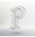 letter on white background vector image vector image