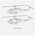 line flat icon set military turboprop