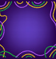 mardi gras carnival background with colorfull vector image