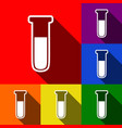 medical tube icon laboratory glass sign vector image vector image