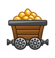 Mine cart vector image vector image