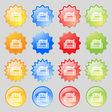 Newspaper icon sign Big set of 16 colorful modern vector image vector image