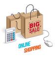 online shop concept web store internet sales vector image