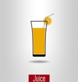Orange juice icon vector image vector image